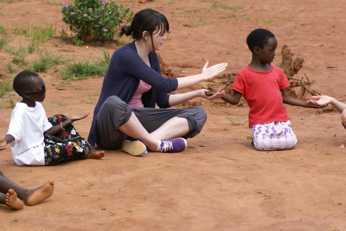 Cassie Delaney volunteering with W4Z