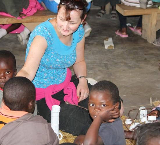 Sharon Loscher volunteering with W4Z