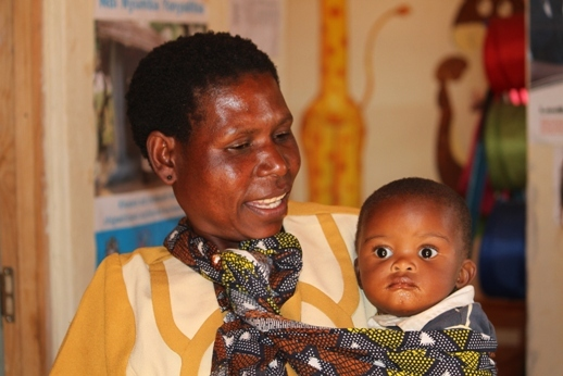 Lillian, the local birth attendant, and manager of the health post