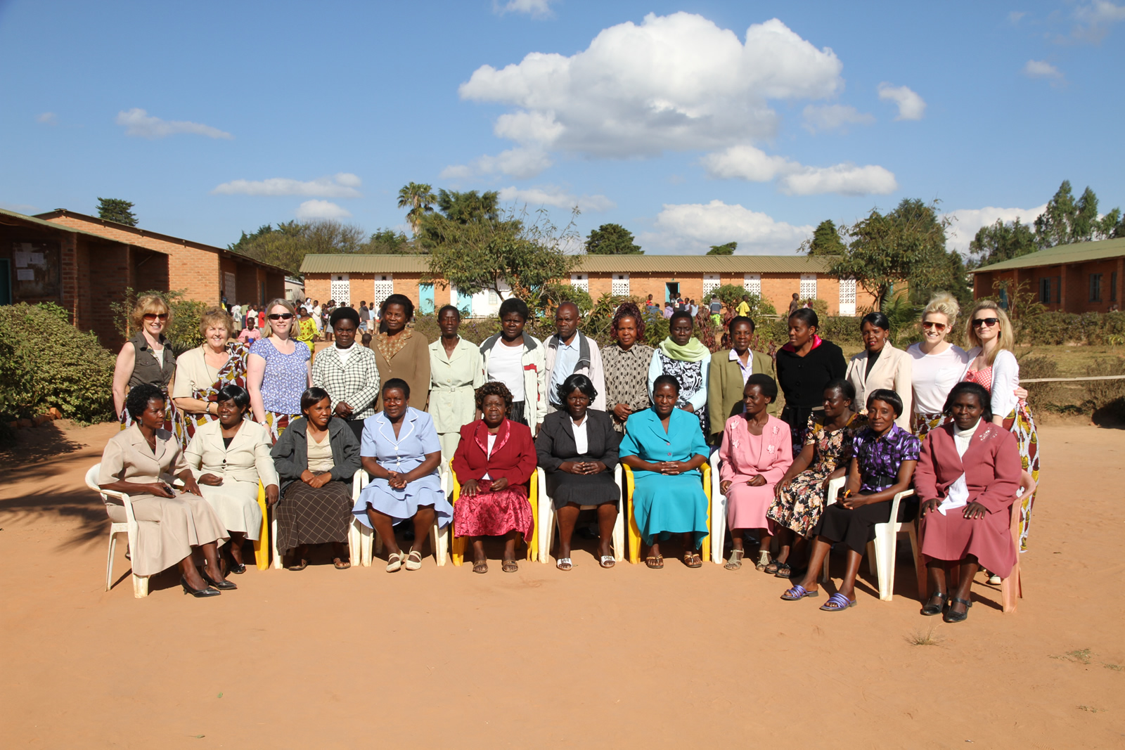 teachers in formal pose