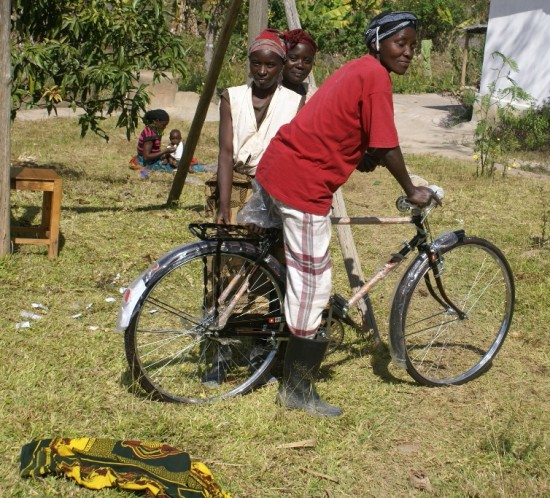 New bicycle on the farm