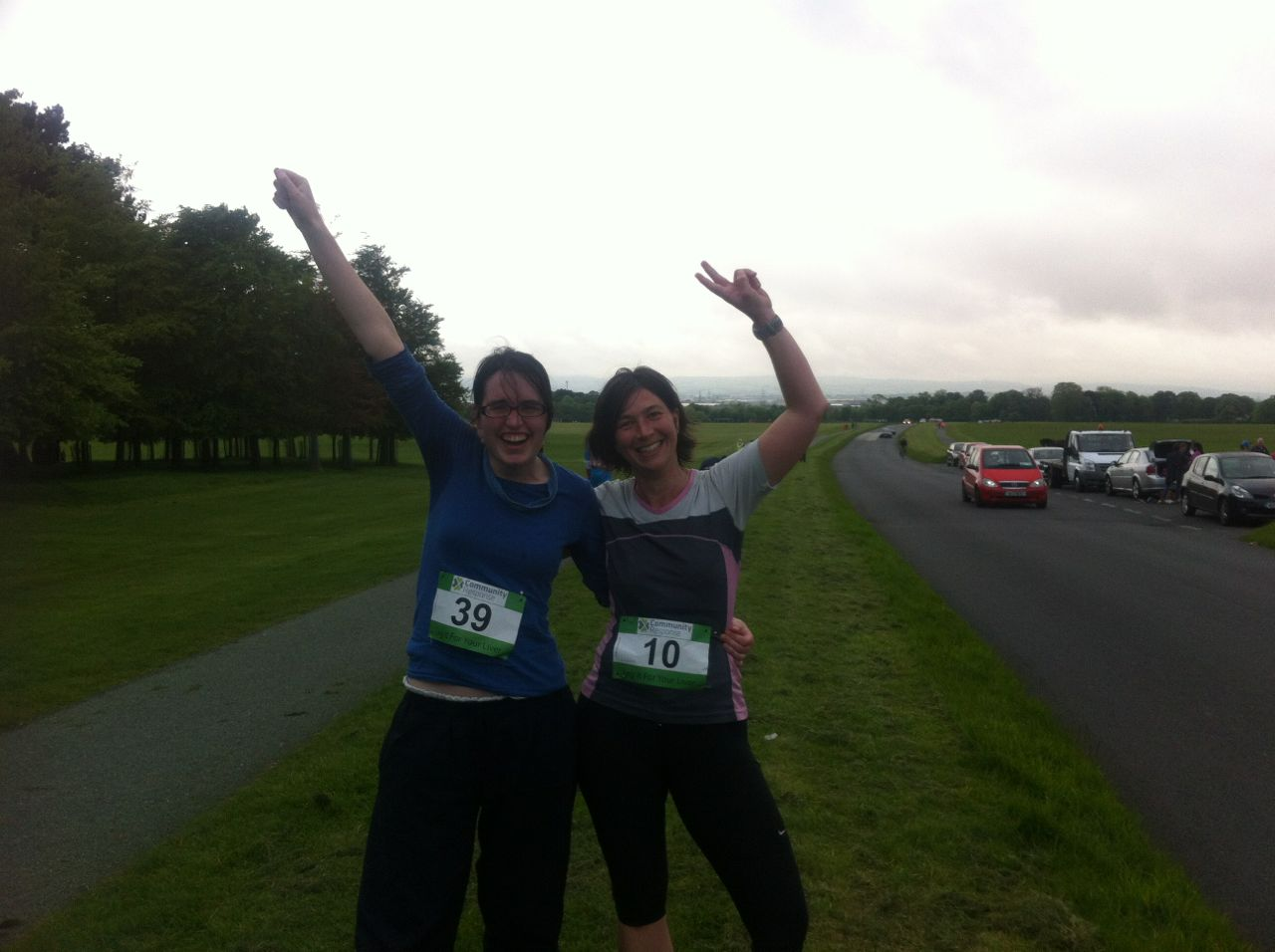 Kerstin & Claire Phoneix Park run