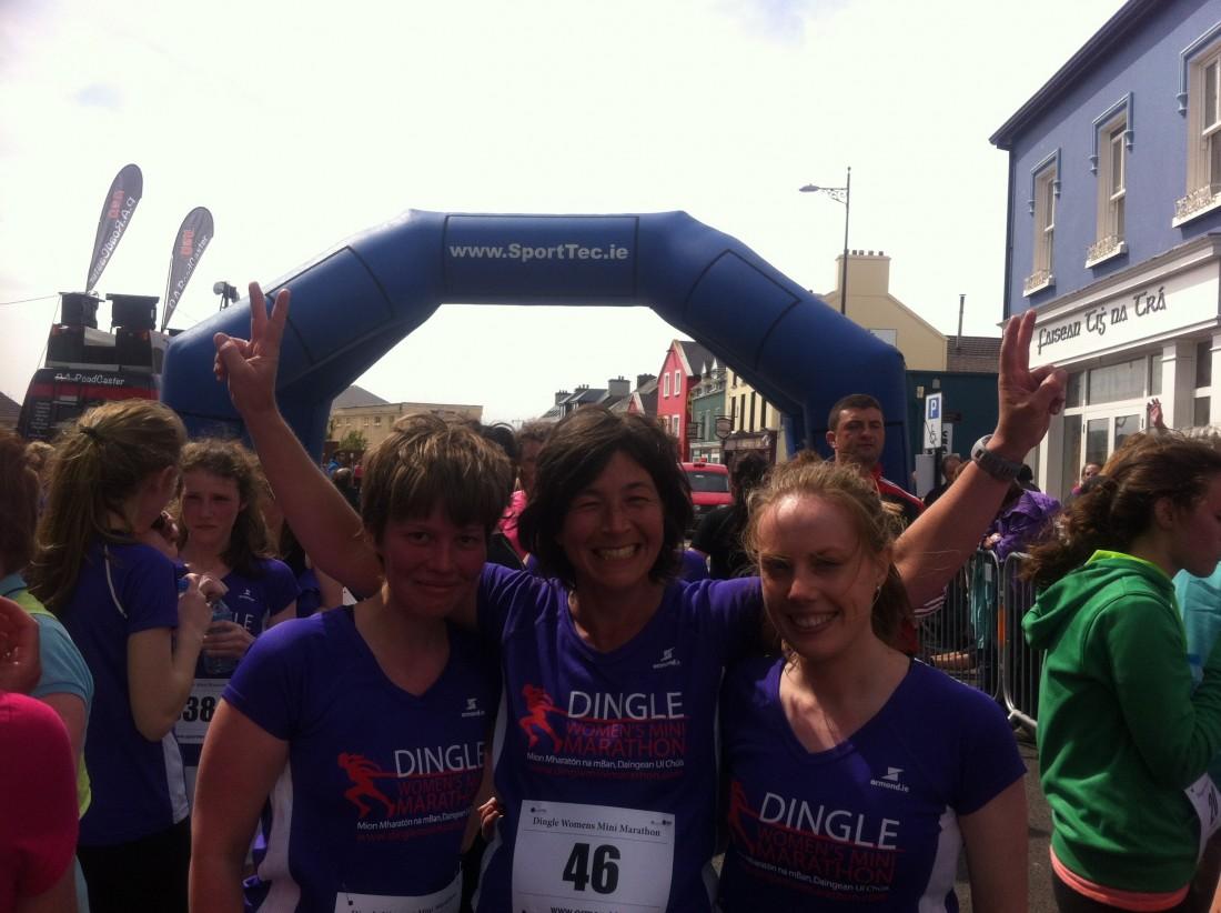 Kerstin at Dingle Mini Marathon