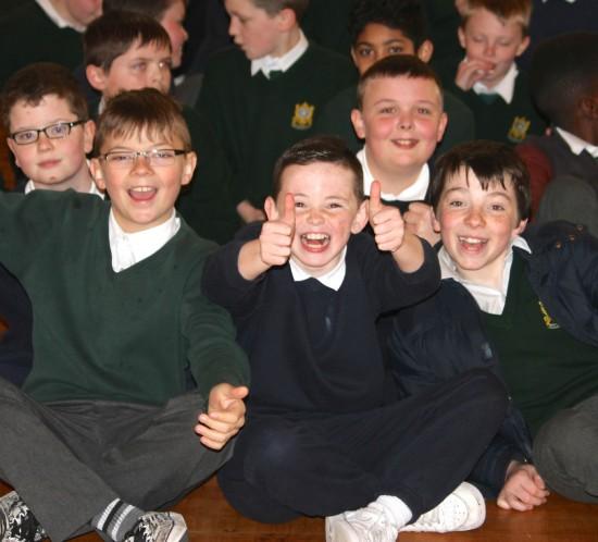 Happy Lads at De La Salle Boys National School in Ballyfermot