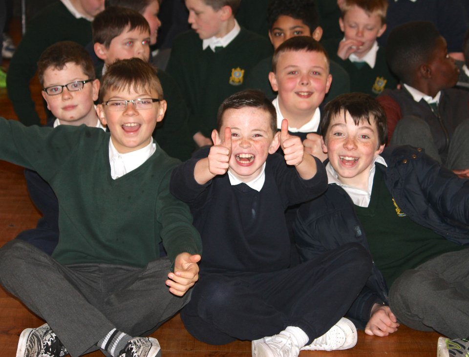 Happy Lads at De La Salle Boys National School in Ballyfermot