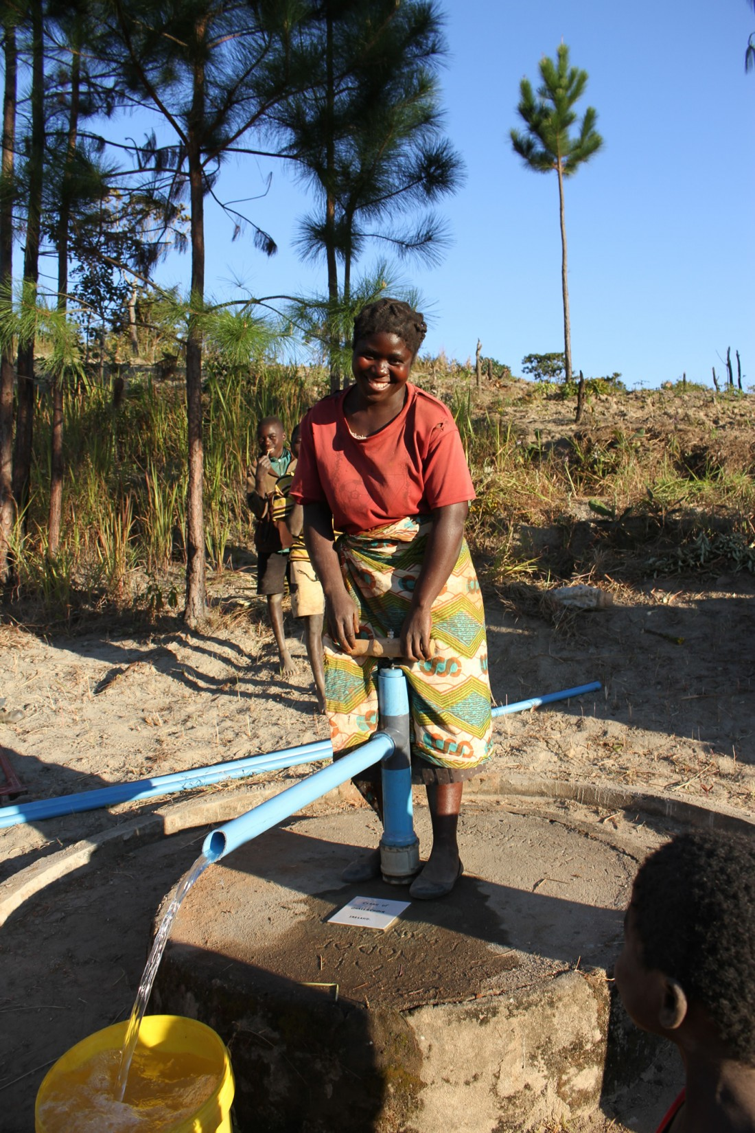 woman using the pump