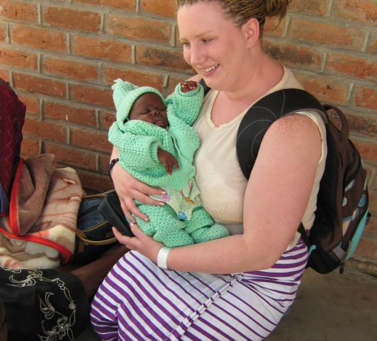 Jacquie Ryan with Malawian baby 2009