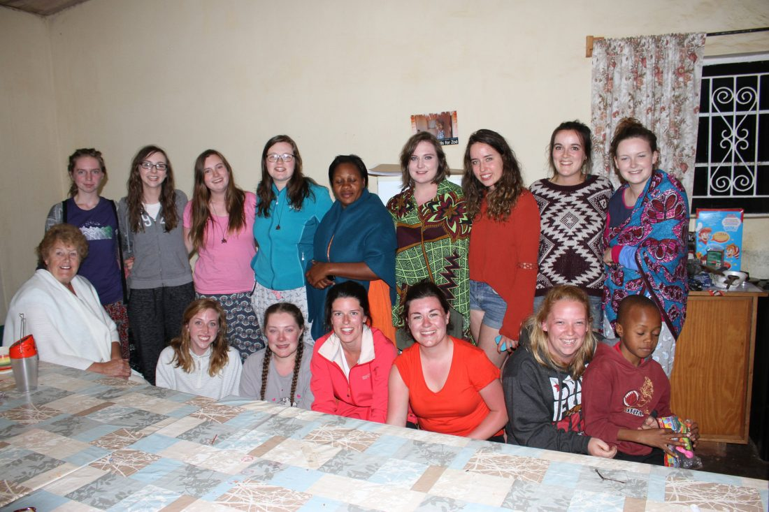 Mary I students in w4z hostel June 2016