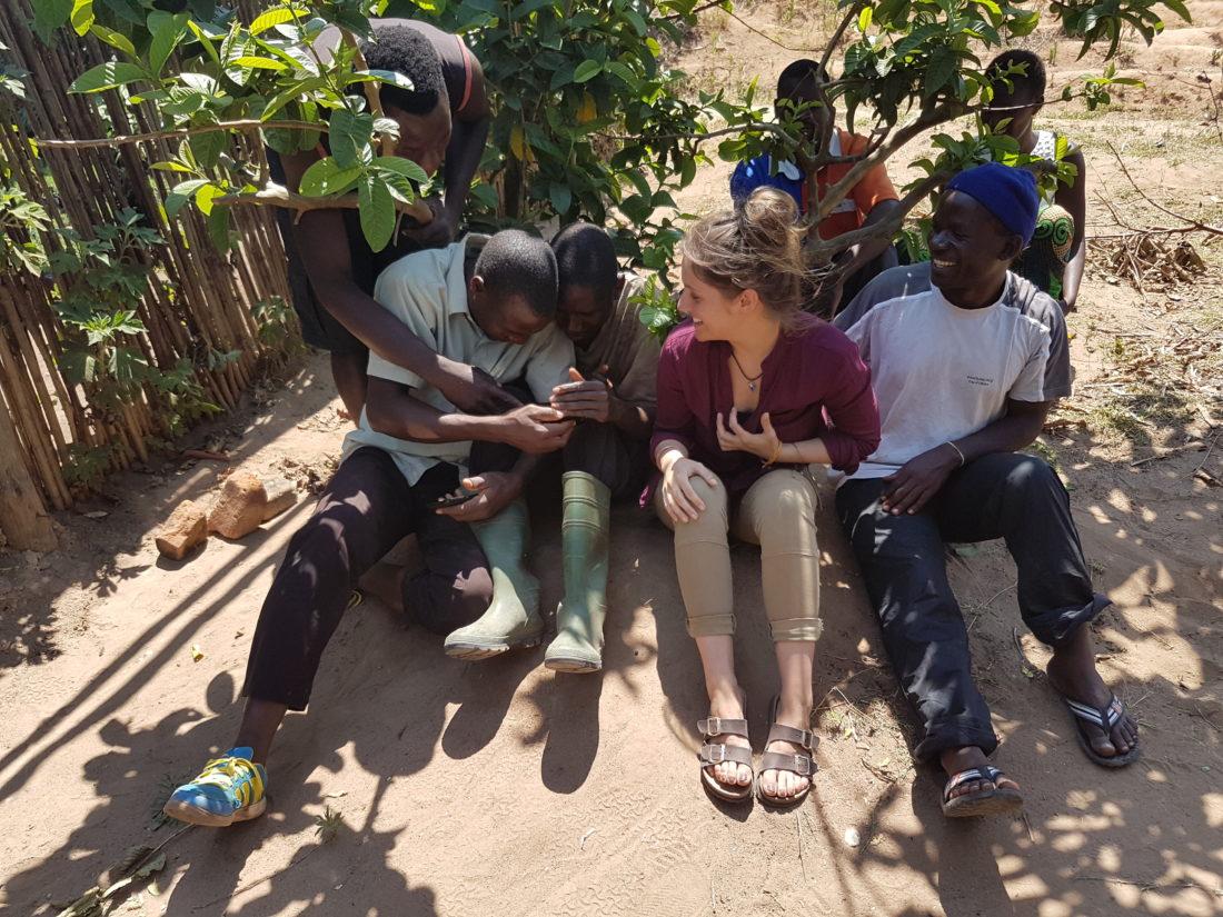 lunchtime laughs at Lusangazi farm