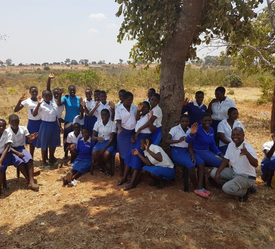 Class at Enyezini school outside