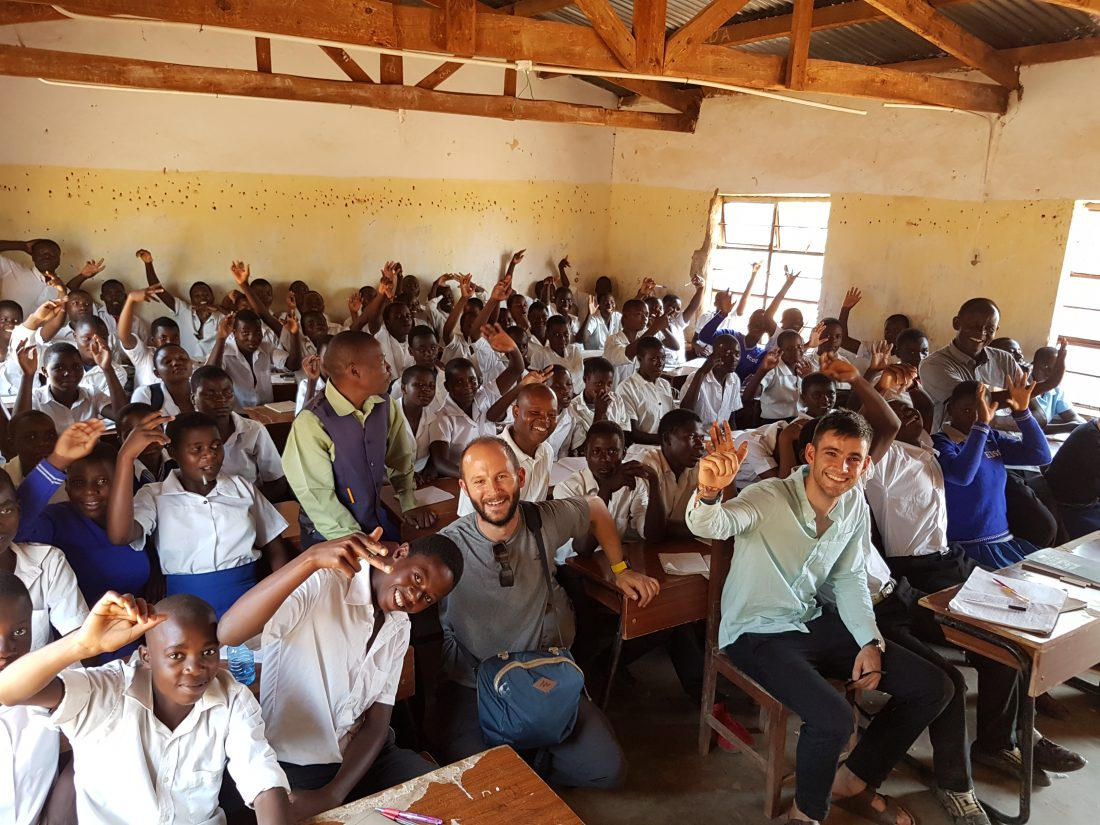 Class at Enyezini school inside