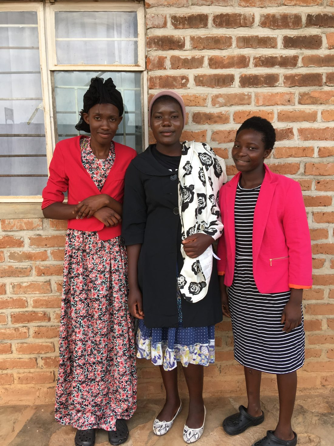 Faith Mhango with other Further Education Students