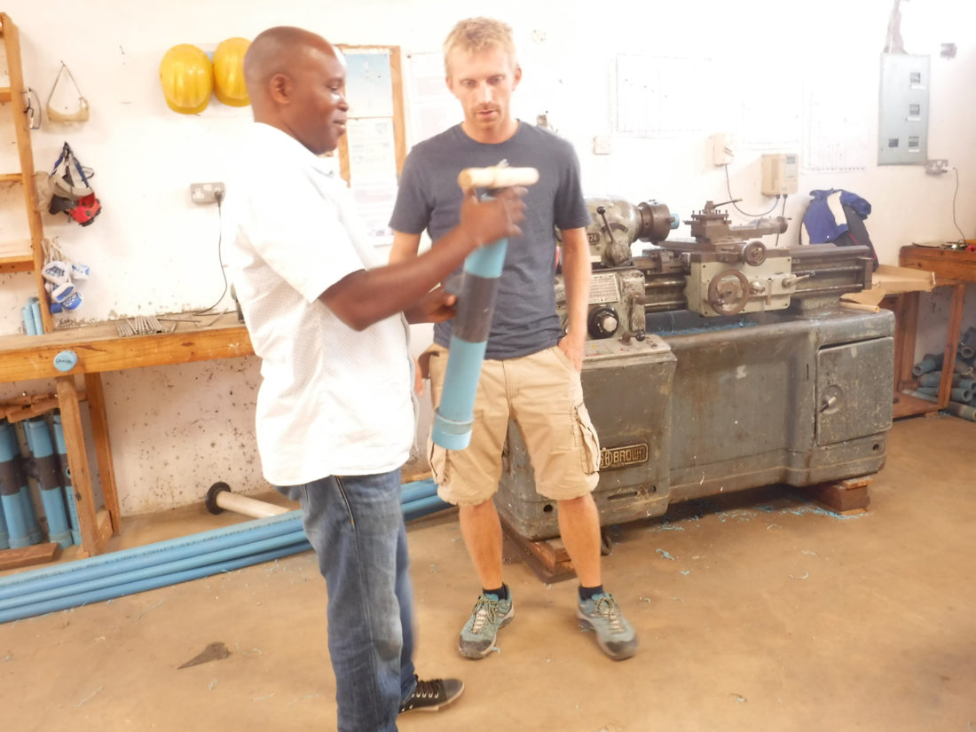 Kevin & Harisen with pump