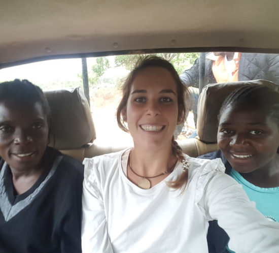Magret, Cristina & Ellen on their way to visit a preschool
