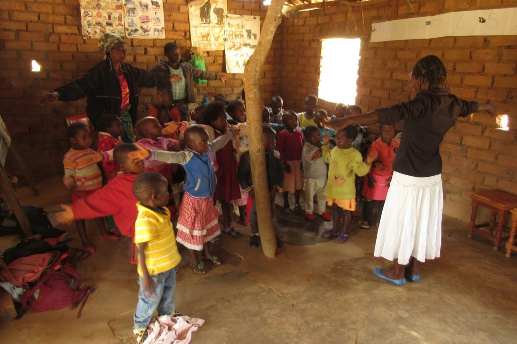 Visit to Mini preschool, Choma with Magret