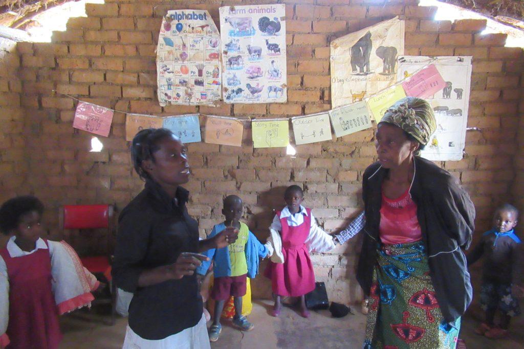 Visit to Mini preschool, Choma with Magret & gogo