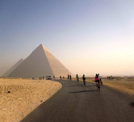 Tour d'Afrique pyramids