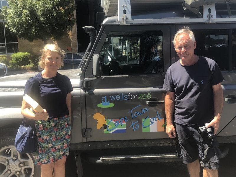 Mel & Jane with Land Rover Defender